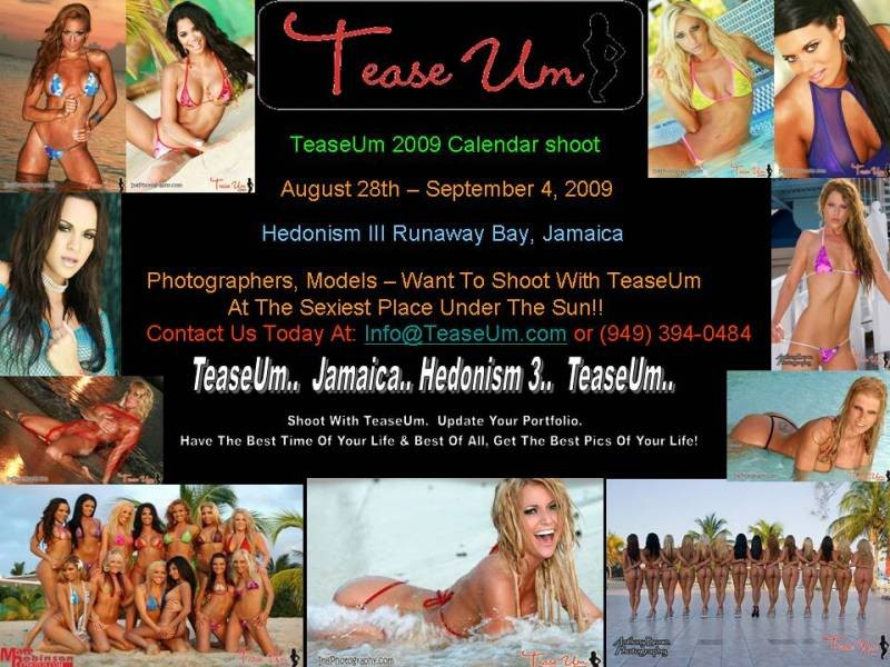TeaseUm Calendar Shoot Event
